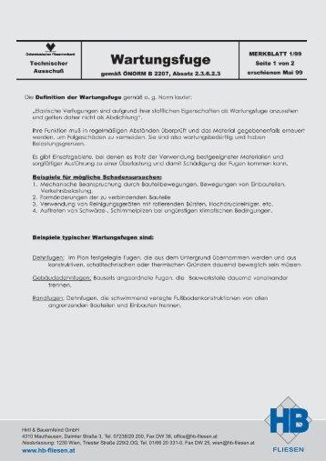 Wartungsfuge Silikon - Hirtl & Bauernfeind GmbH
