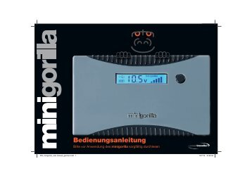 Bedienungsanleitung Minigorilla DE - Solarbag-Shop