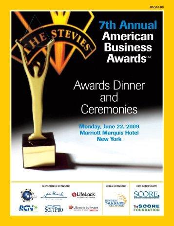 J1930-ABA09 Program/Web - the Stevie Awards