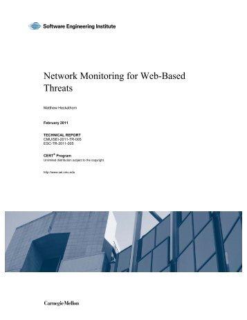 Network Monitoring for Web-Based Threats - Heckathorn - CERT