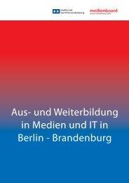 Aus- und Weiterbildung in Medien und IT in - Creative City Berlin