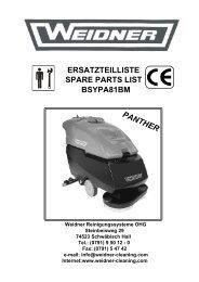 ERSATZTEILLISTE SPARE PARTS LIST BSYPA81BM - Weidner