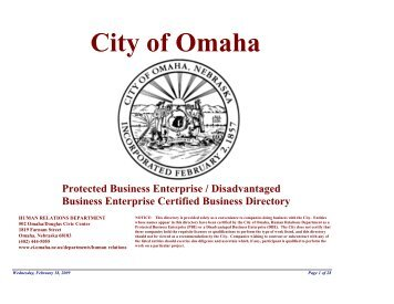 City of Omaha - Douglas County, Nebraska