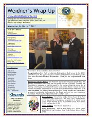 Weidner's Wrap-Up - KiwanisOne.org