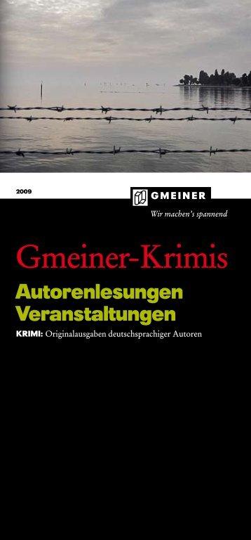 Gmeiner Verlag Lesungsprospekt 2009 - Harald Schneider