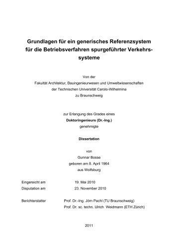 Analyse der prEN 15380-4 - Technische Universität Braunschweig