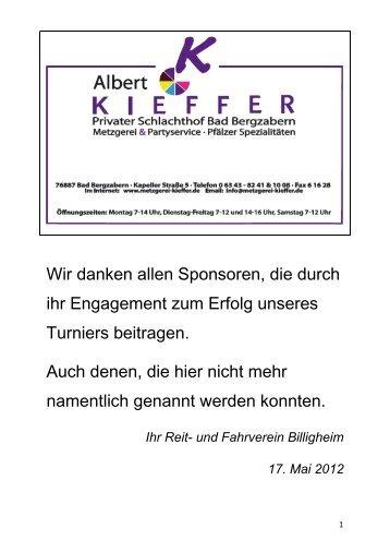 Hufschmied Martin Eichenlaub - RFV Billigheim