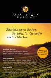 Schatzkammer Baden: Paradies für Genießer und ... - Badischer Wein
