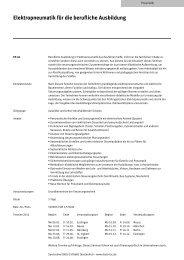Elektropneumatik für die berufliche Ausbildung - Festo Didactic