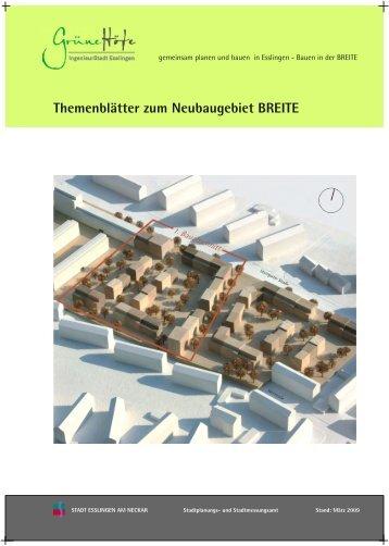 Themenblatt Baugemeinschaften - Esslingen