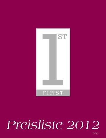 FIRST Preisliste 2012 - Jobs @ News