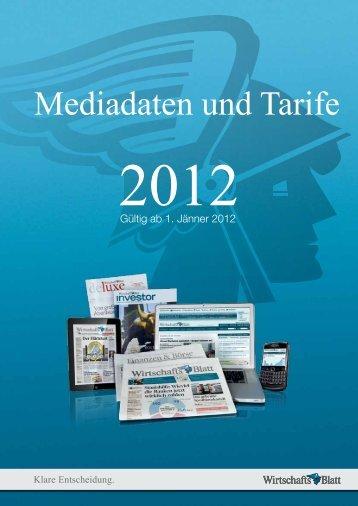 Mediadaten und Tarife - Wirtschaftsblatt