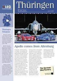 Apollo comes from Altenburg - Landesentwicklungsgesellschaft ...