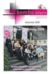 11. komba-intern Dezember 2008 - Webcam der Stadt Aachen