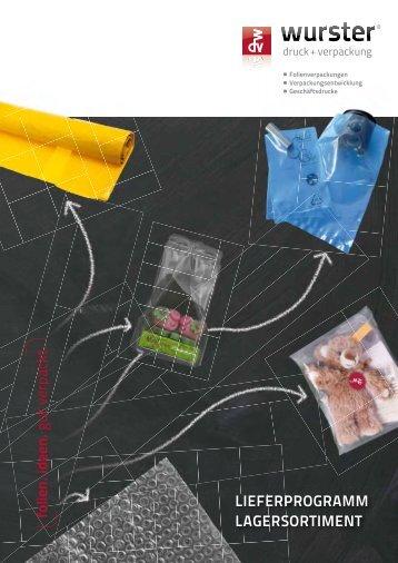 lieferprogramm lagersortiment - Wurster Druck und Verpackung