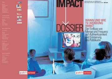 WANN UND WIE TV-WERBUNG WIRKT Der Einfluss von Menge ...