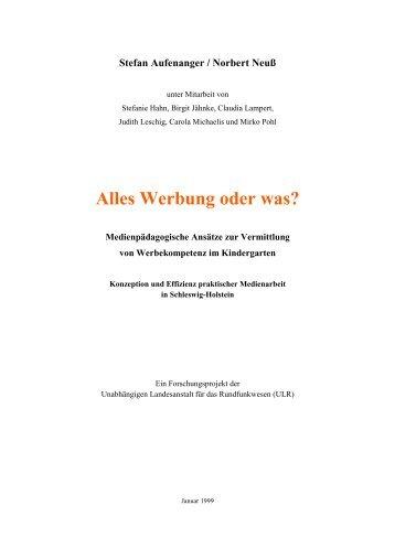 Werbung oder was - Prof. Dr. Norbert Neuß