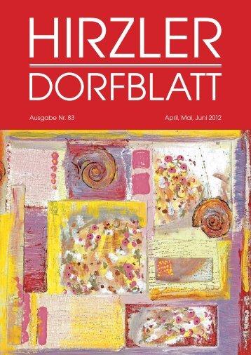Dorfblatt 83 - Gemeinde Hirzel