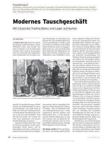 Modernes Tauschgeschäft - Active International GmbH