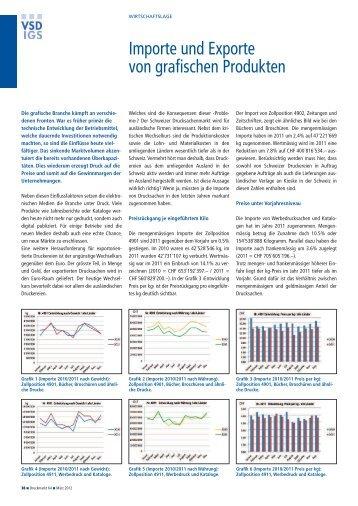 Importe und Exporte von grafischen Produkten - Verband der ...