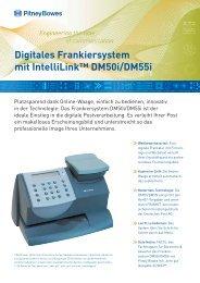 Digitales Frankiersystem mit IntelliLink™ DM50i/DM55i - Pitney Bowes
