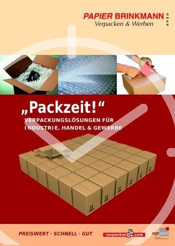 Industrie Prospekt - Papier Brinkmann GmbH - Verpackungen