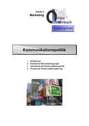 Marketing Kommunikationspolitik