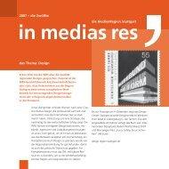 2007 – die Zwölfte das Thema: Design die MedienRegion Stuttgart