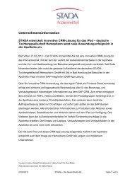 Unternehmensinformation - STADA Arzneimittel AG