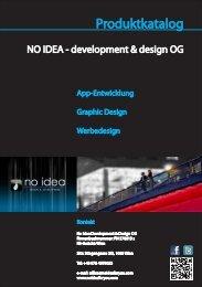 Produktkatalog als PDF-Download - NO IDEA - development & design