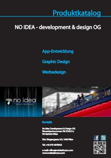 Produktkatalog als PDF-Download - NO IDEA - development & design