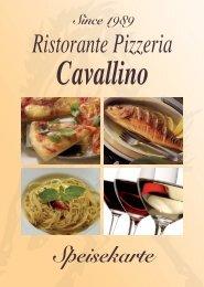 Speisekarte - Ristorante Pizzeria Cavallino