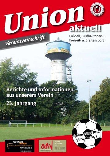 Ausgabe Nr.1 2011/2012 - SV Union Essen-Frintrop 1913 eV