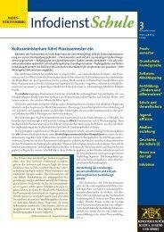 Infodienst Schule 3 / November 2000 - Kultusportal