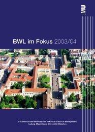 BWL im Fokus 2003/04 - LMU Management Alumni - Ludwig ...