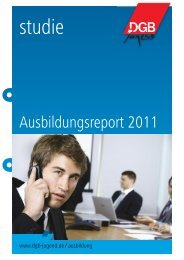 Studie Ausbildungsreport 2011 - DGB