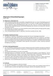 Allgemeine Einkaufsbedingungen - Weber-Hydraulik GmbH