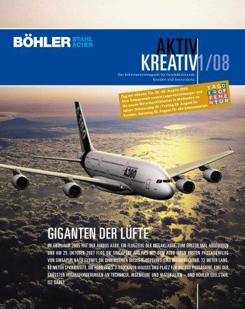 AKTIV KREATIV 1/08 - Gebr. Böhler & Co. AG