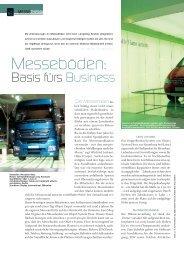 Messeböden: Basis fürs Business (PDF ca 3,5 - bei Messe & Event