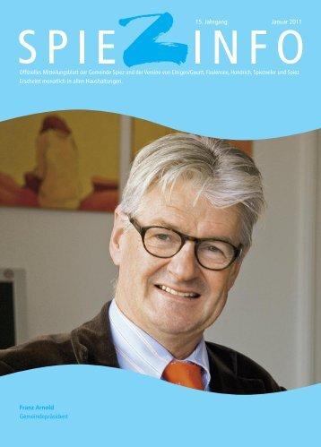 Franz Arnold Gemeindepräsident 15. Jahrgang Januar 2011 - in Spiez