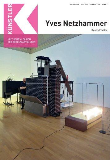 Yves Netzhammer N - Zeit Kunstverlag