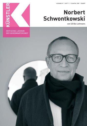 Norbert Schwontkowski - Weltkunst