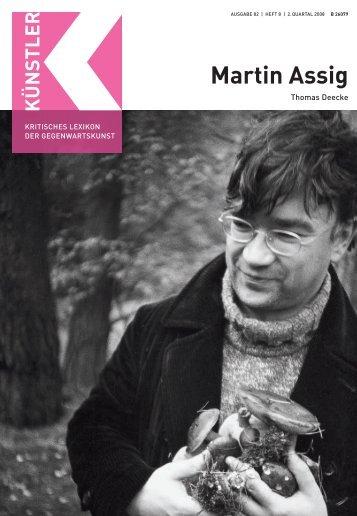 Martin Assig - Weltkunst