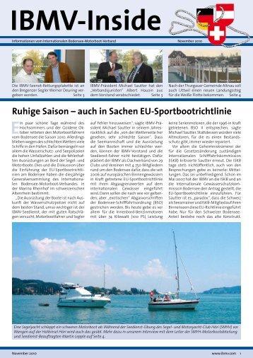 Ruhige Saison – auch in Sachen EU-Sportbootrichtlinie - IBMV ...