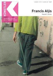 Francis Alÿs - Zeit Kunstverlag