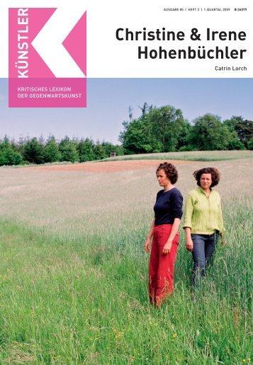 H Christine & Irene Hohenbüchler - Weltkunst