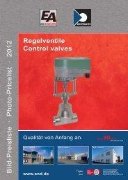 Bild-Preisliste · Photo-Pricelist · 2012 Regelventile ... - END Armaturen