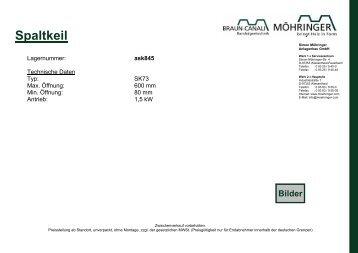 Spaltkeil - Möhringer Anlagenbau GmbH