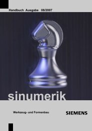 SINUMERIK Handbuch Werkzeug- und Formenbau