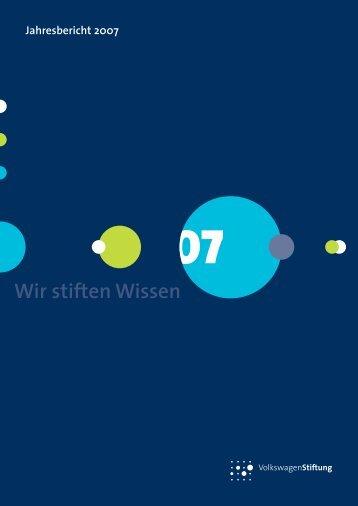 Wir stiften Wissen - VolkswagenStiftung